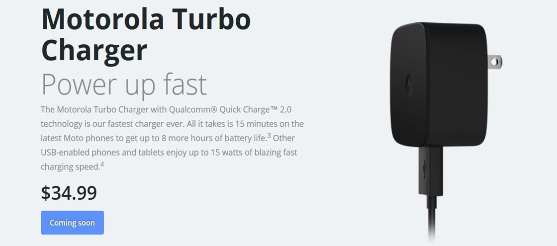 Carregador Motorola Turbo Charger traz 8 horas de bateria em 15 minutos