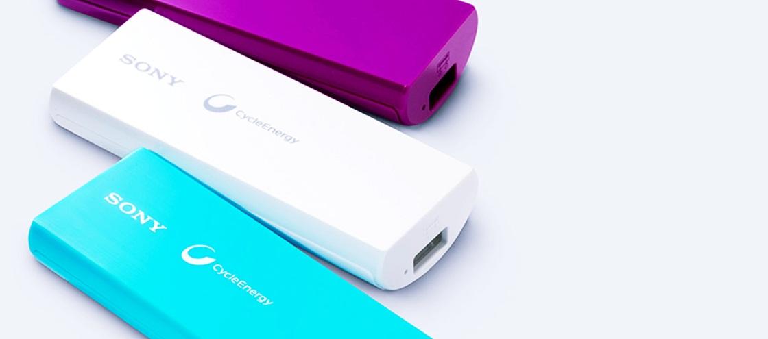 carregador portatil da Sony em diversas cores