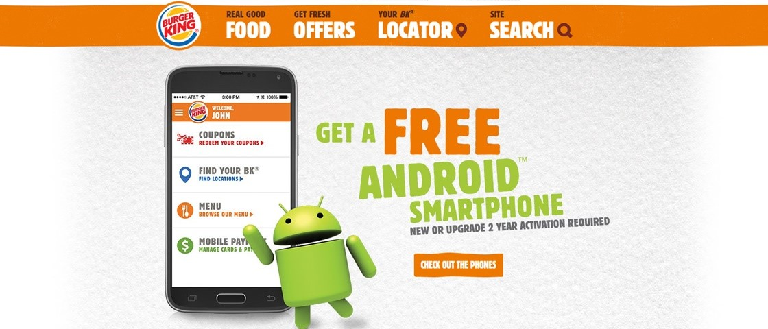 Ops! Burger King mostra um Galaxy S5 rodando iOS em propaganda