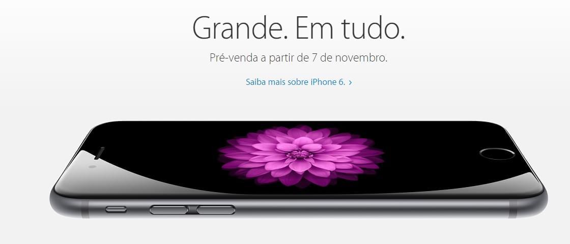 Pré-venda do iPhone 6 no Brasil começará em 7 de novembro