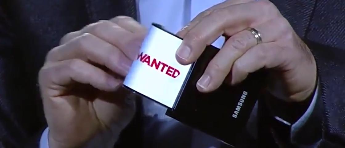Samsung registra patente de smartphone flexível