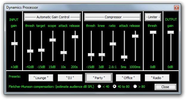 Dynamics Processor do Ots Turntables.