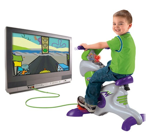 Atividade física e jogo no mesmo brinquedo