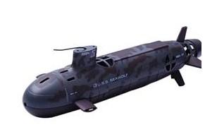Submarino que se move pela água por controle remoto