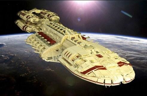 A nave de LEGO