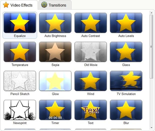 Os vários efeitos são os destaques do aplicativo.