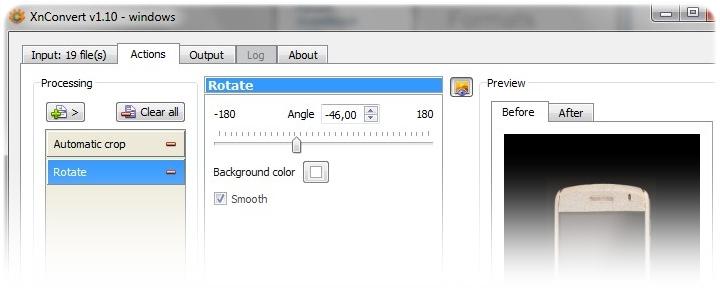Detalhe da interface.