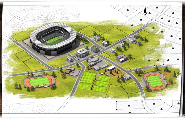 Expansão do estádio do seu clube.