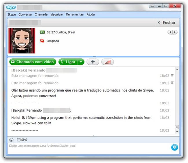 Converse pelo Skype em qualquer idioma.