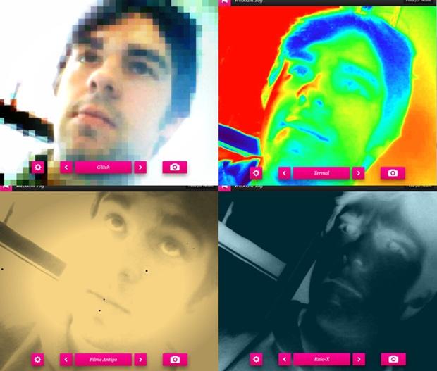 Algumas das possibilidades do Webcam Toy.