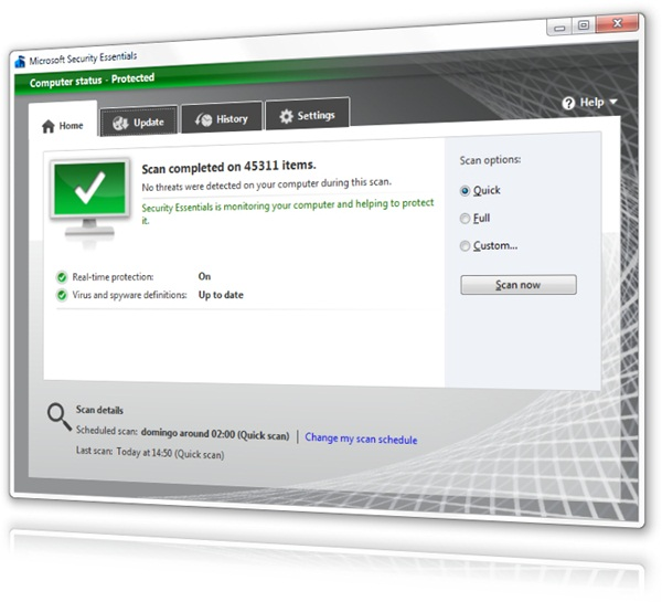 Microsoft Security Essentials 4 Beta