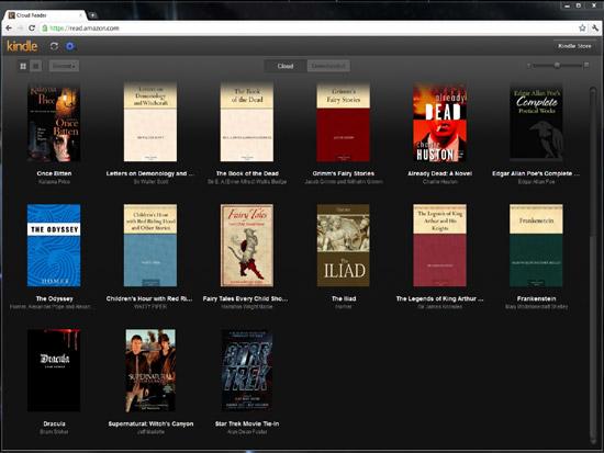 Livros no navegador