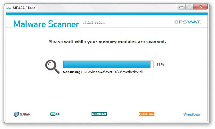 Opswat Malware Scanner