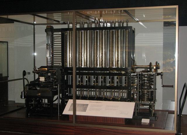 Máquina Diferencial de Babbage (Fonte da imagem: Wikimedia Commons)