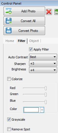 Adicione filtros e modifique as imagens