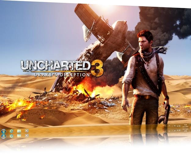 Uncharted 3 Windows 7 Theme 1.0  347