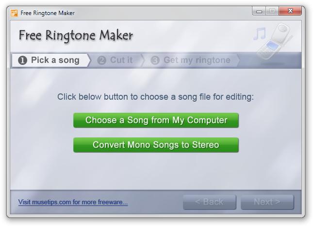 Escolha o arquivo de áudio no seu PC.