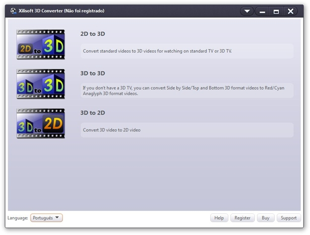 Xilisoft 3D Video Converter.