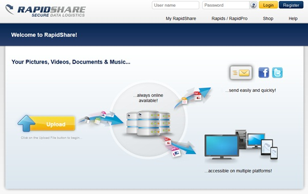 RapidShare não está preocupado com o caso Megaupload 9114126942172631