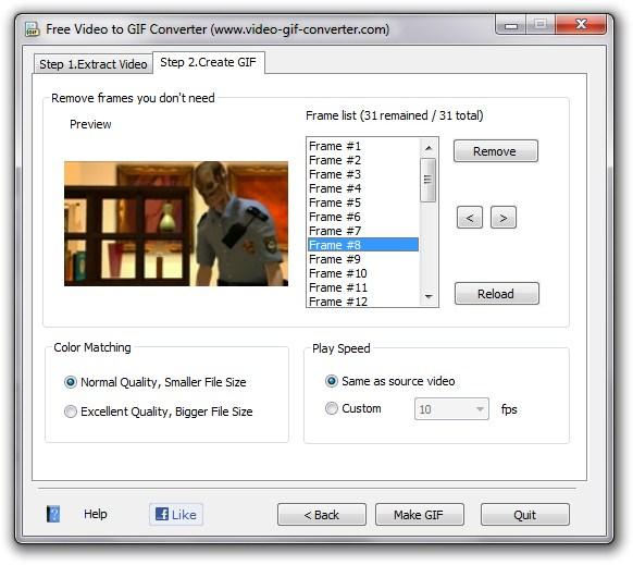 Quadros prontos para criar o GIF