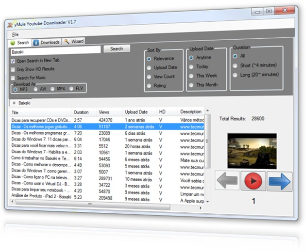 YMULE YOUTUBE DOWNLOADER 1.7
