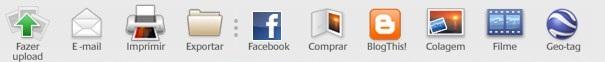 Detalhe: botão do Facebook no Picasa