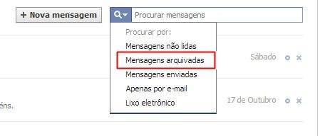 Abrindo as mensagens arquivadas
