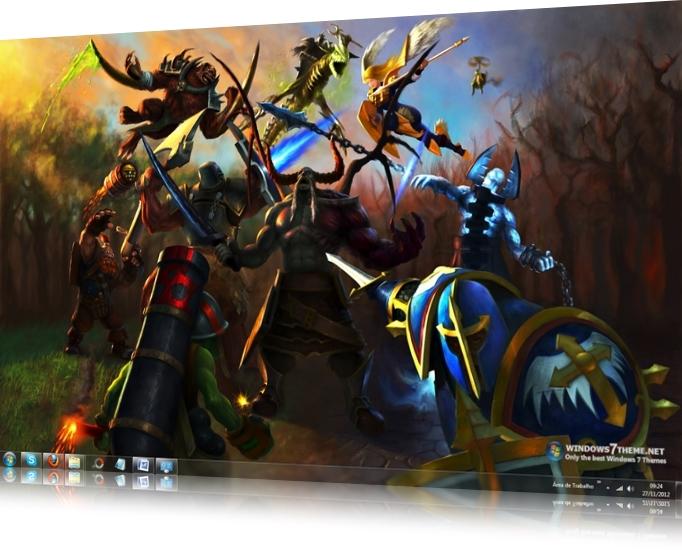 Heroes of Newerth Windows 7 Theme
