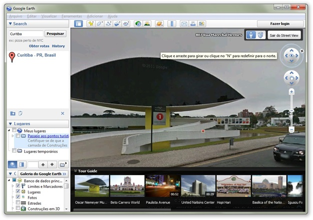Visualizando com o Street View