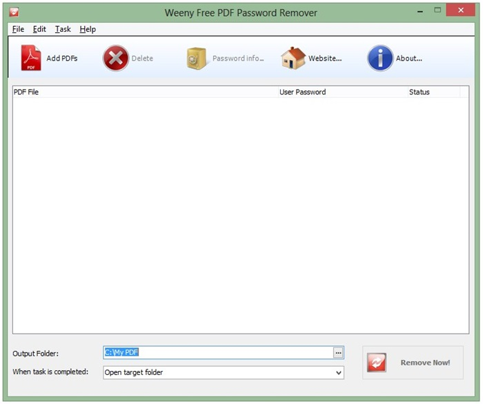 Remove password from pdf file free