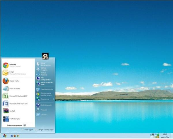 Windows 7 com cara de 8