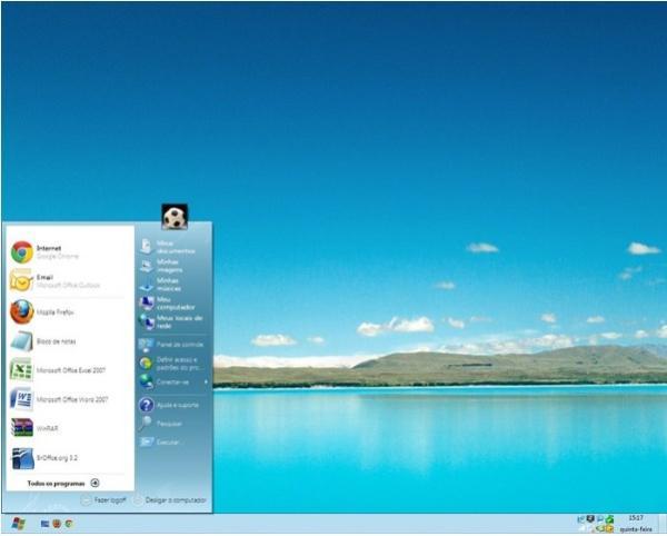 Windows 7 com cara de 8