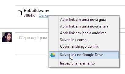 Salve o conteúdo de links e anexos de email diretamente na nuvem.