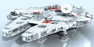Artista cria nave de Star Wars com LEGO em um software de modelagem 3D [vídeo]