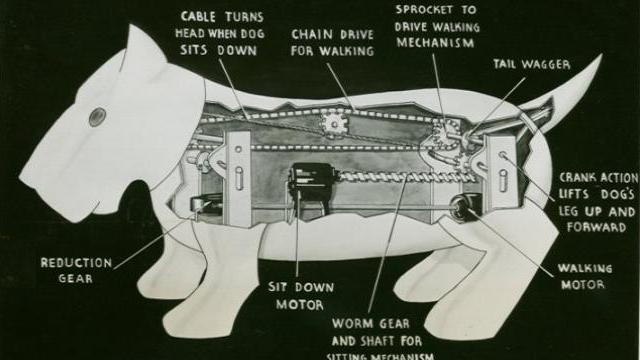 Bizarro: cachorro-robô foi atropelado por um carro em 1939   4981978412101513