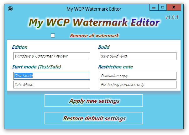 My WCP Watermark Editor.