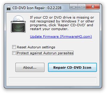 CD-DVD Icon Repair.