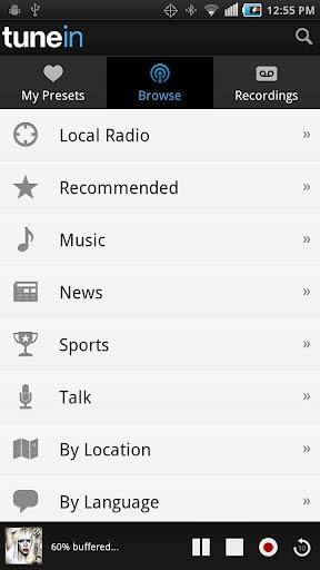 how to cancel tunein radio android