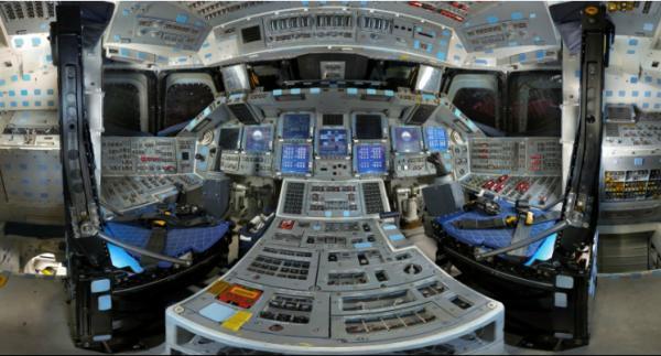 Fa a uma viagem pelo interior no nibus espacial discovery for Interior nave espacial