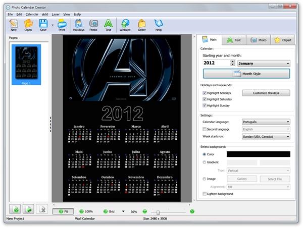 Photo Calendar Creator - Imagem 2 do software