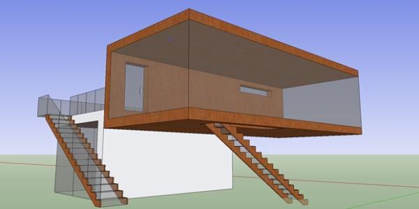 Google sketchup como adquirir componentes no armaz m 3d for Casa moderna sketchup download