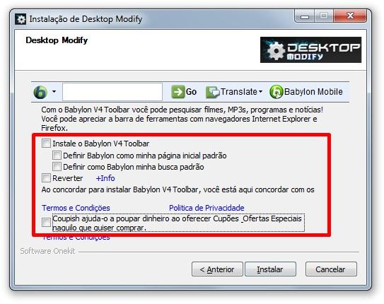 Desktop Modify - Imagem 2 do software