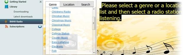 Ouvindo rádios online