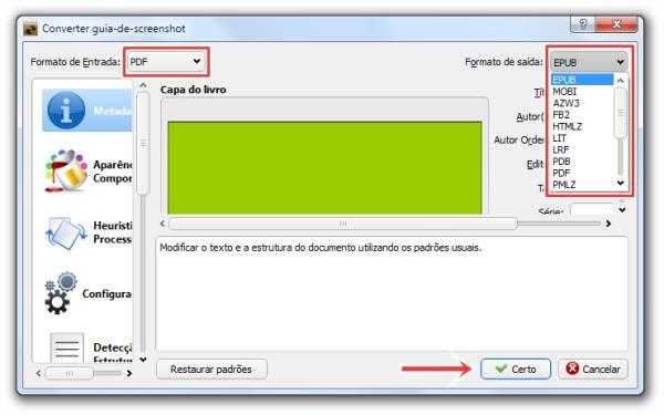 Como converter PDFs para formatos compatíveis com e-books