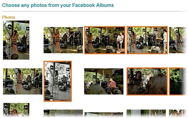 Escolha das fotografias para a colagem