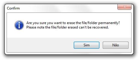Quer apagar seus arquivos permanentemente?