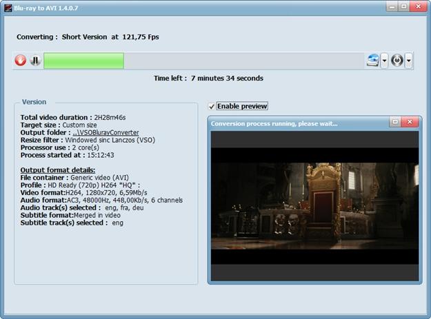 Blu-ray to AVI.