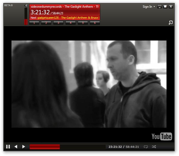 YouTube em janela maximizada
