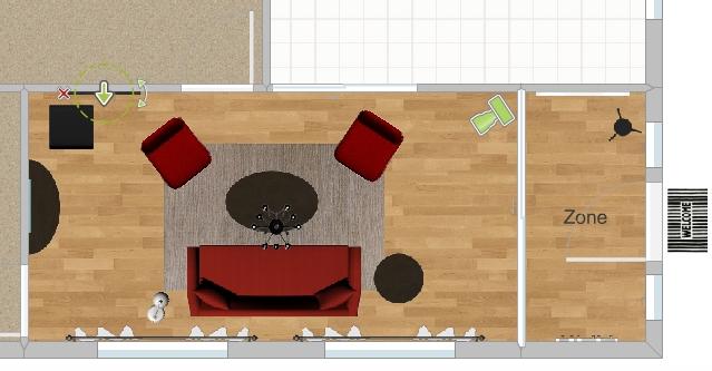Decore os cômodos com os móveis do RoomSketcher