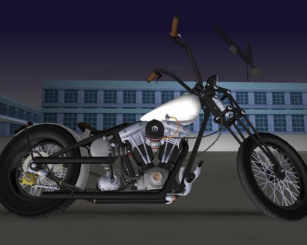 Harley Davidson Shovelhead Chopper.